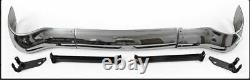 1955 Chevy Bel Air Front 3 Piece Chrome Bumper with 4 pc. Mounting Bracket Set