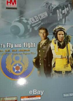 1/6 US Air Force Bud Anderson WW2 PILOT ACTION FIGURE SET HIGHLY DETAILED