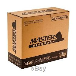 3 Master Airbrush Air Compressor Kit, 16 Color Face Body Art Tattoo Paint Set