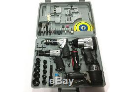 43pc Air Impact Tool Set Kit Wrench Ratchet Rattle Gun Driver -Brand New in Box
