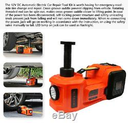 5 Ton 3in1 Car Electric Jack Hydraulic Lift Jack Air Pump Electric Wrench Set