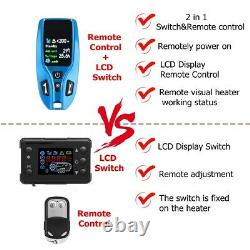 8000W 12V Diesel Air Heater LCD Switch with Remote For Truck Bus Boat LITE SET