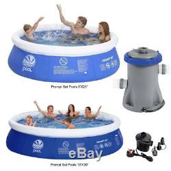 8ft / 10ft Prompt Set Inflatable Paddling Swimming Pool Water Filter & Air Pump
