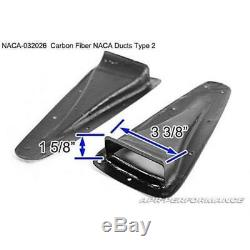 APR Performance Carbon Fiber NACA Cooling Air Ducts Set Type 2 Universal SET New