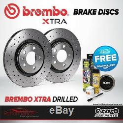 Brembo Xtra Front Vented High Carbon Drilled Brake Disc Pair Discs x2 09. A820.1X