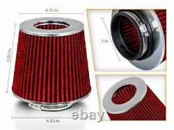 Cold Short Ram Air Intake Kit RED for 02-06 RSX Type-S ONLY 2.0L I4 Full Set