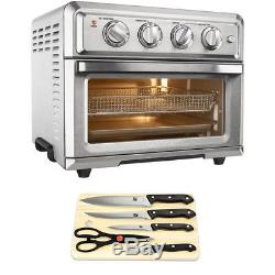 Cuisinart Convection Toaster Oven Air Fryer with 5 Piece Knife Set and Cutting