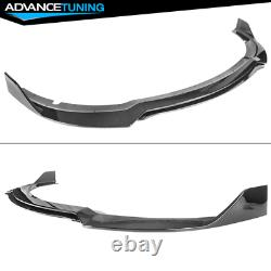 Fits 15-21 Dodge Charger SRT Only V3 Style Front Bumper Lip 4PC PP Gloss Black