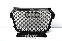Front Grill Look RS1 Black For Audi A1 8X 2010-14 Honeycomb Grill Grille