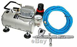 Iwata Eclipse HP CS Airbrush Set with Air Compressor Kit, Gravity Feed. 35mm Tip