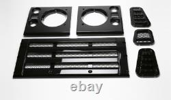 Land Rover Kbx Grille Set Gloss Black Kbx Style Grill + Wingtops & Air Intake