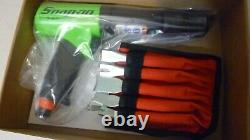 New Snap On Super Duty Air Hammer, Green Color, With New 5 Piece Bit Set
