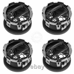 OEM Dash Air Vent Louver Chrome & Warm Metallic Kit Set of 4 for Ford Super Duty