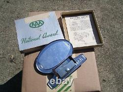 Original 1950s AAA auto vintage scta GM Ford Chevy license plate topper emblem