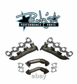 Rudy's High Flow Exhaust Manifold & Up Pipe Set For 01-04 Chevy/GMC 6.6L Duramax