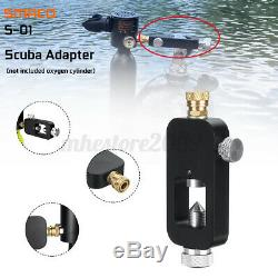 SMACO Scuba Oxygen Cylinder 1L Air Tank Scuba Diving Underwater Breath WithAdapter