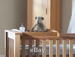 Solid Oak BREEZE 3-in-1 Cot, Junior Bed, and Full Size Single Bed. Brand New