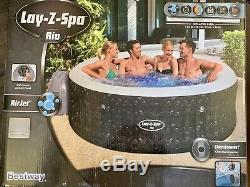 Spa Rio Hot Tub. Lay-Z-spa Jacuzzi Air Jet 4-6 Adults Easy Set Up. Lazy Spa New