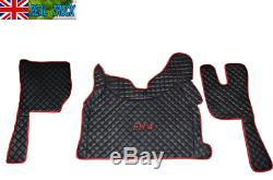 Truck Eco Leather Floor Mats Set Fit Volvo Fh 4 2013+ Twin Air Seats